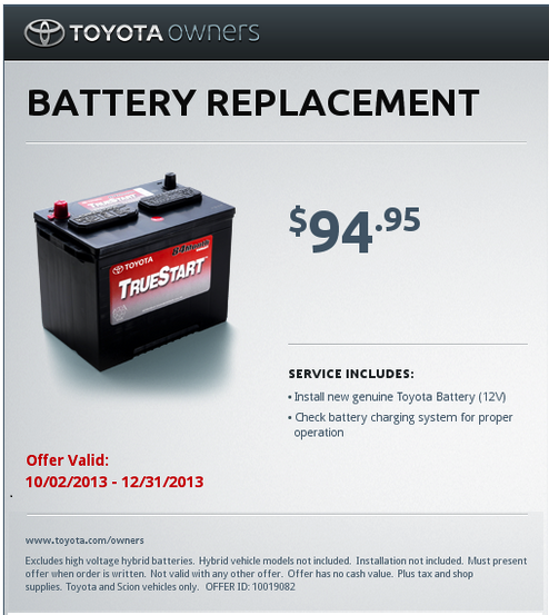 Toyota Battery Ripoff Special The Small Print